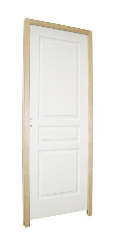 Bloc porte postformé 3 panneaux traverse droite 204x63cm
