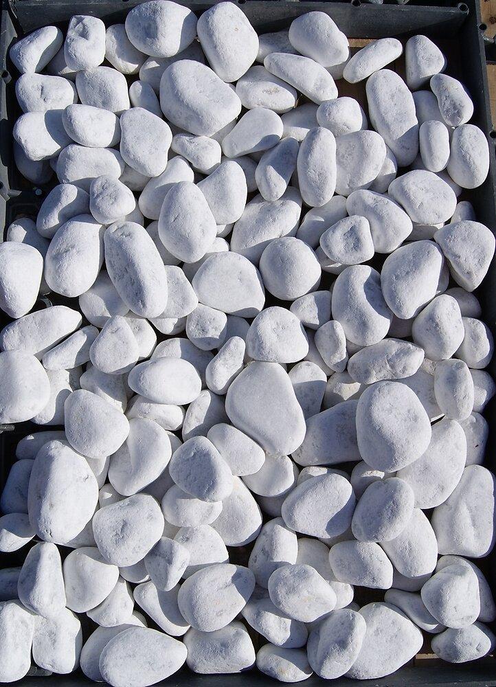 Galets décoratifs ALKERN en marbre de Carrare 40/60 blanc 25kg