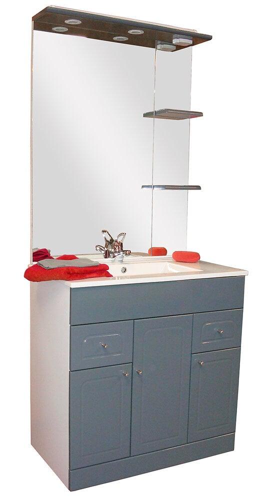Meuble de salle de bain Delto L.81xH.183cm