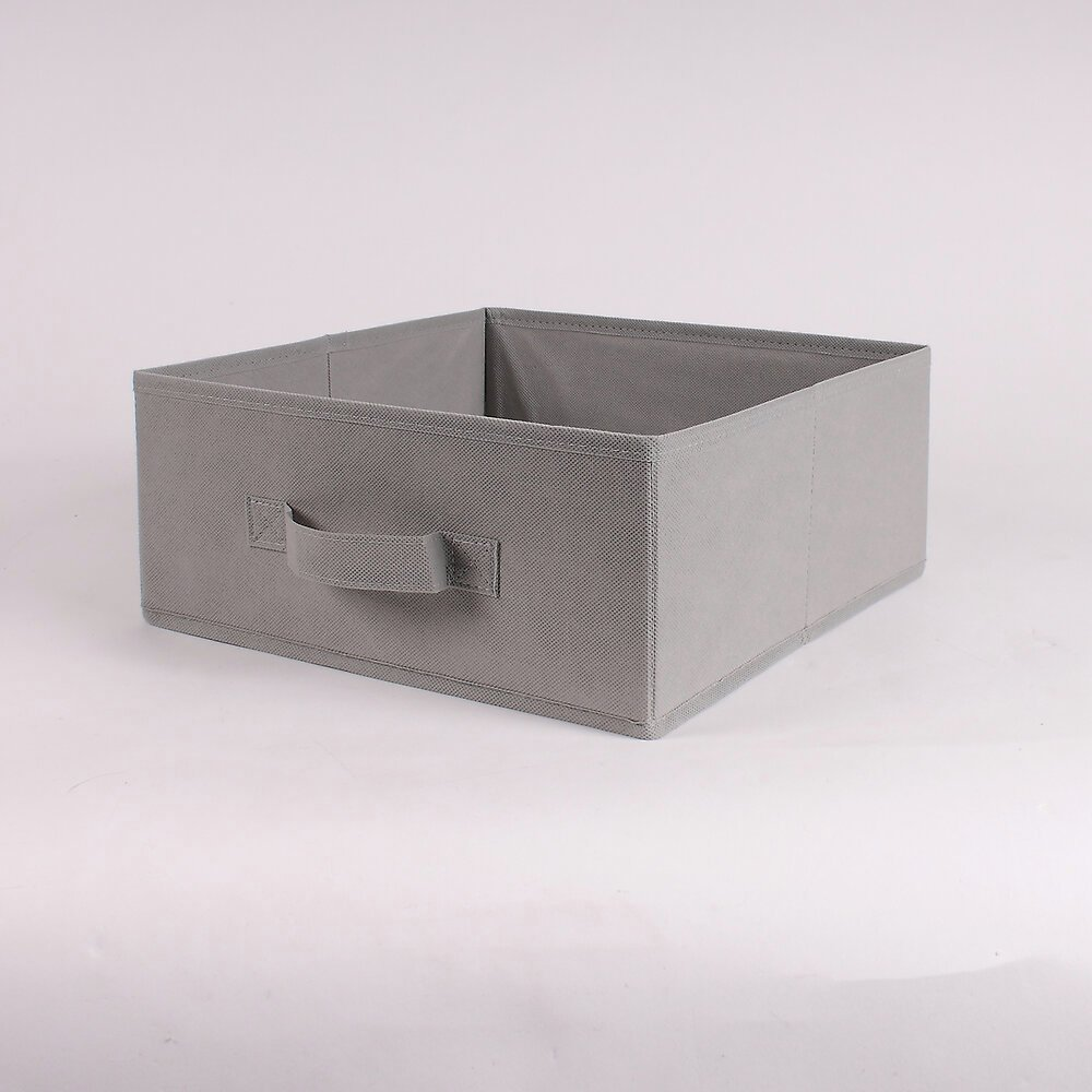 Tiroir pliable intissé taupe 28x28x13 cm