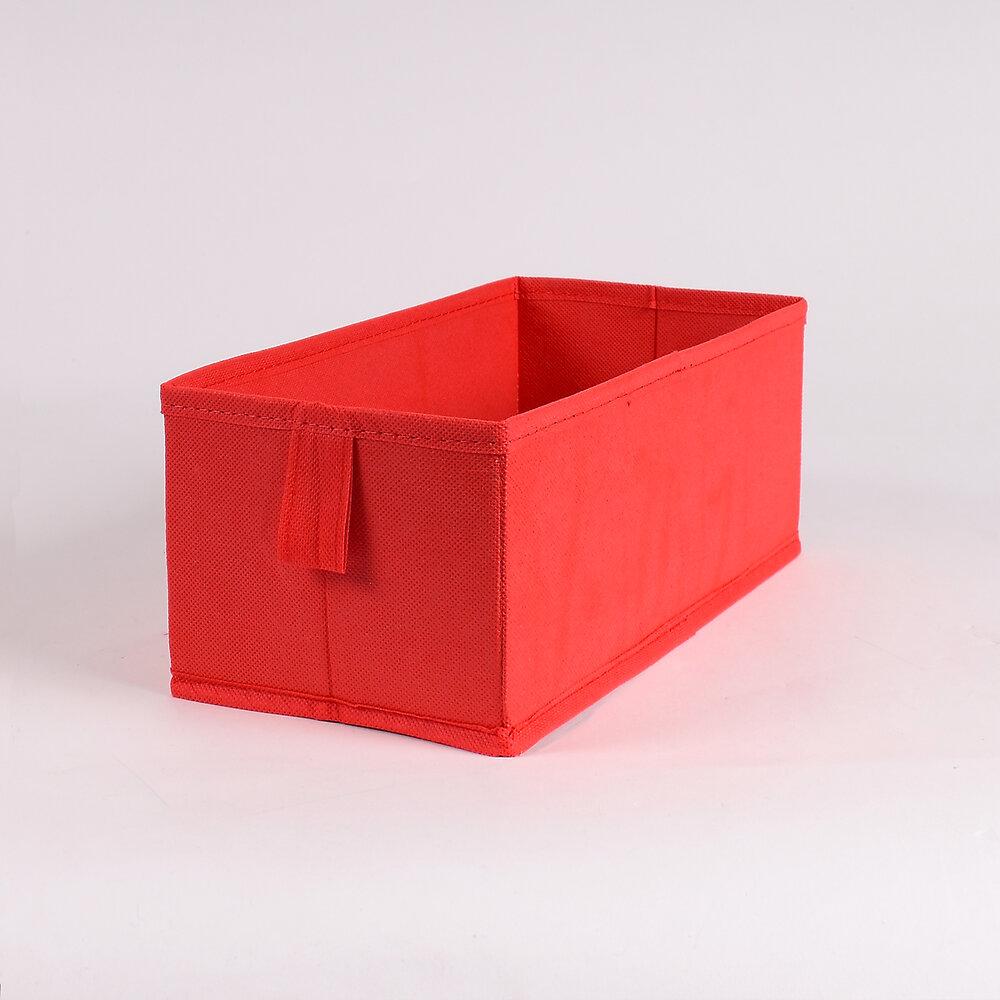 Tiroir pliable intissé rouge petit modèle