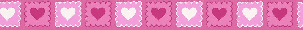 Galon adhésif motif coeur rose L.5xl.5m