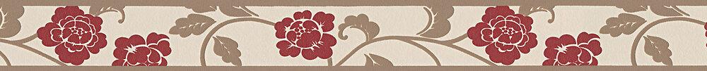 Galon adhésif motif floral pivoine rouge L.5xl.5m