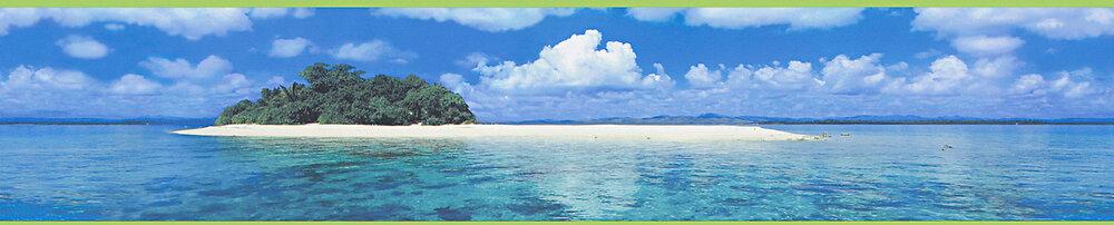 Frise adhésive motif zen blue Island L.5xl.5m