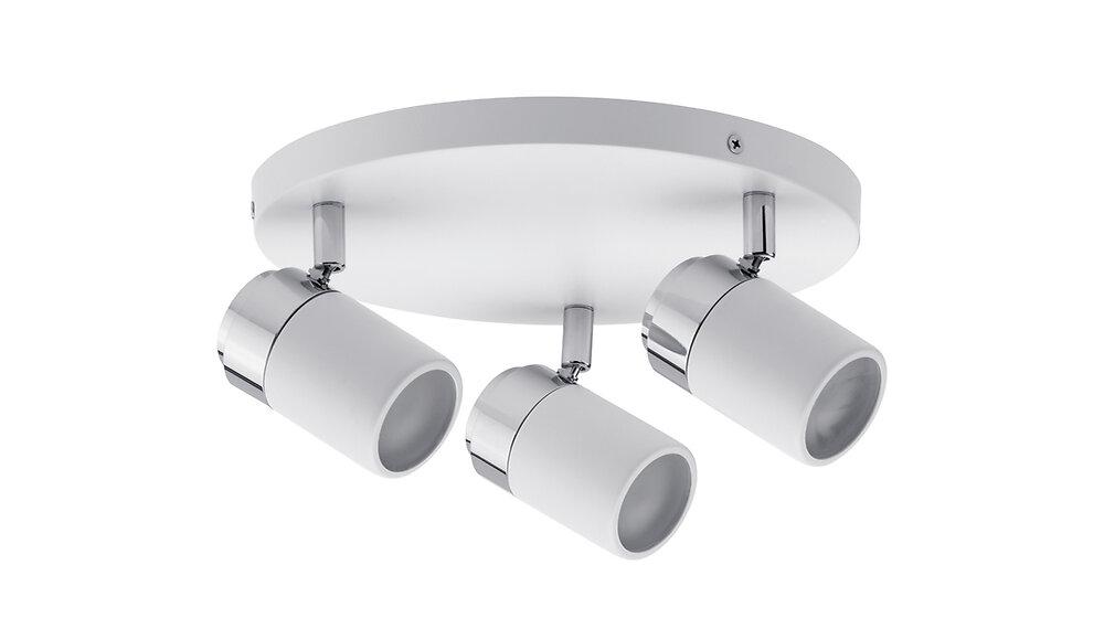 Plafonnier à spots Zyli IP 44 blanc 10W
