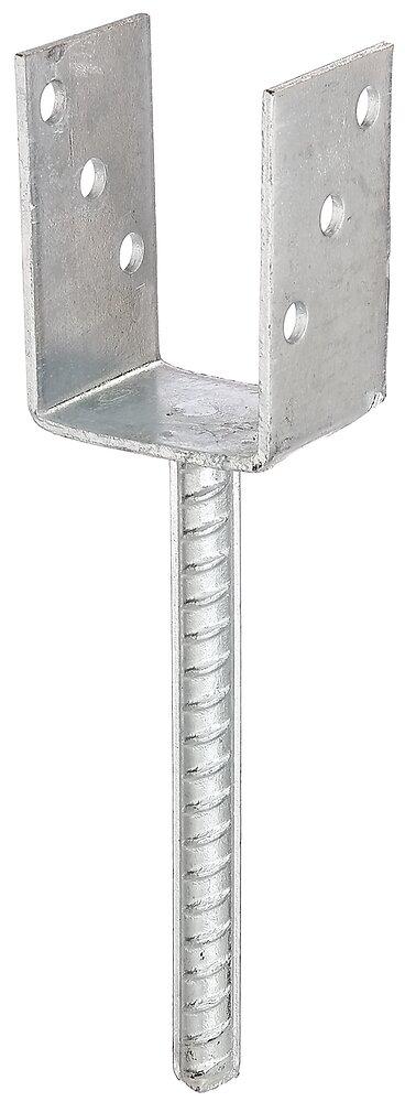Ancre de poteau U galvanisée à chaud à bétonner 71x100/4mm