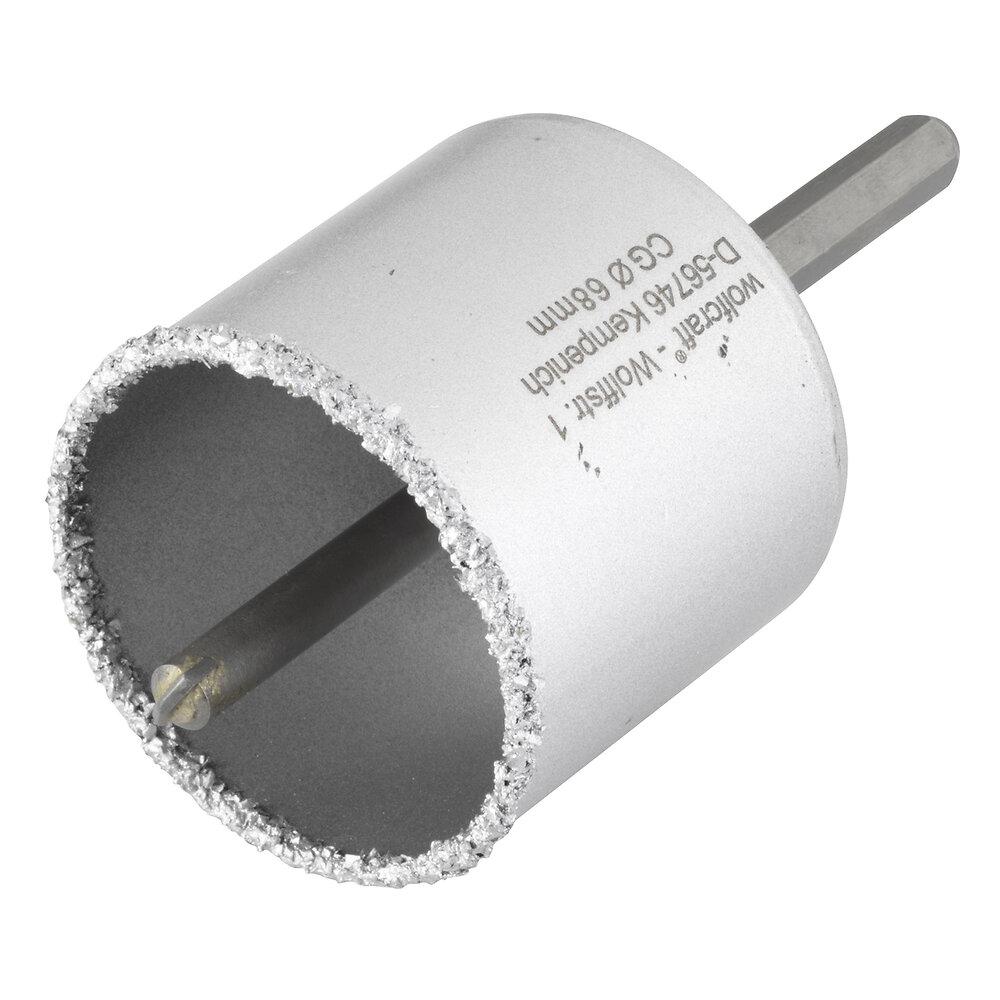 Scie à trépan maçonnerie prêt à l'emploi diamètre 68mm