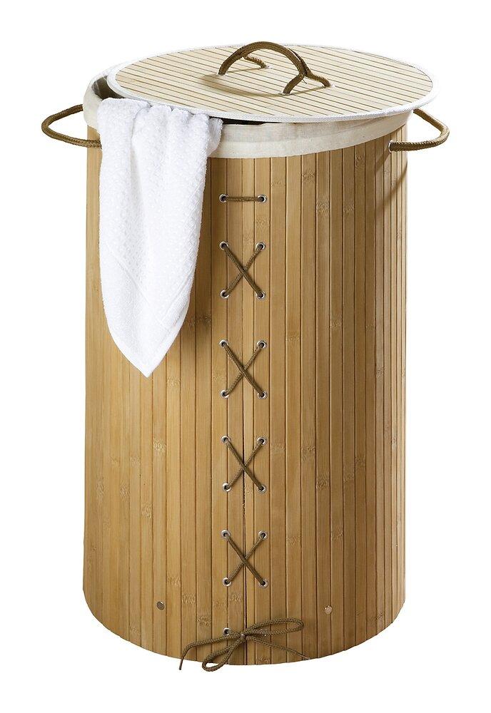 Coffre à linge WENKO Bambou naturel