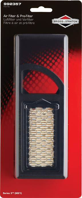 Filtre & pré-filtre à air BRIGGS ET STRATTON Série 3 pour moteur