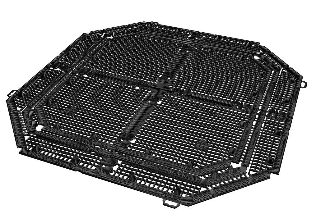 Grille de fond pour composteur 900L noir