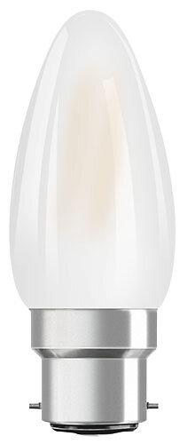 Ampoule led flamme verre dépoli 4W=40 B22 chaud