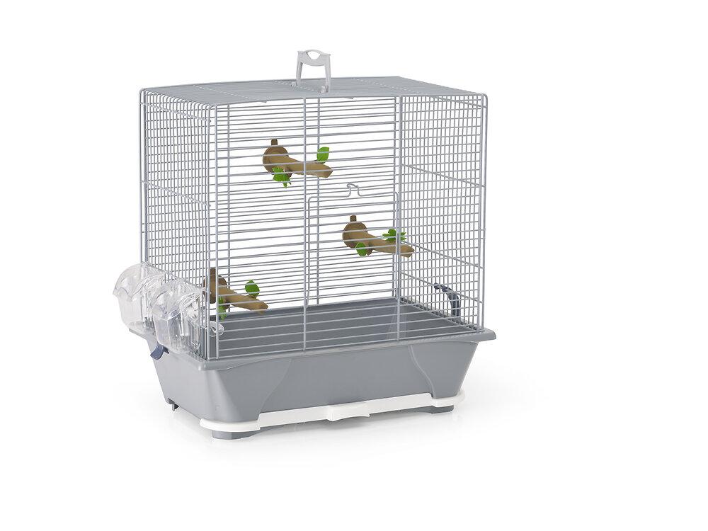 Cage à oiseaux Primo argentée 45cm