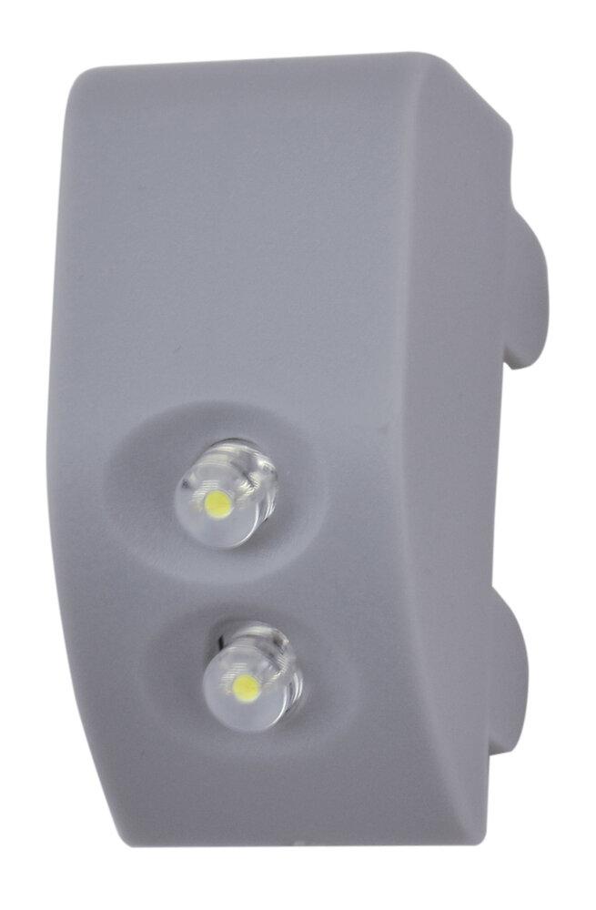 Module eclairage charniere avec detecteur led 0.2w titane