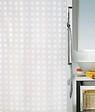 Rideau de douche SPIRELLA Pavatto blanc PEVA 180 cm x 200 cm