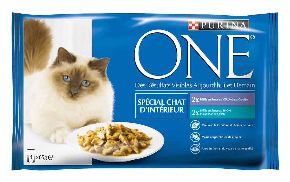 Sachet chat d'intérieur - Thon-Veau - 4x85g