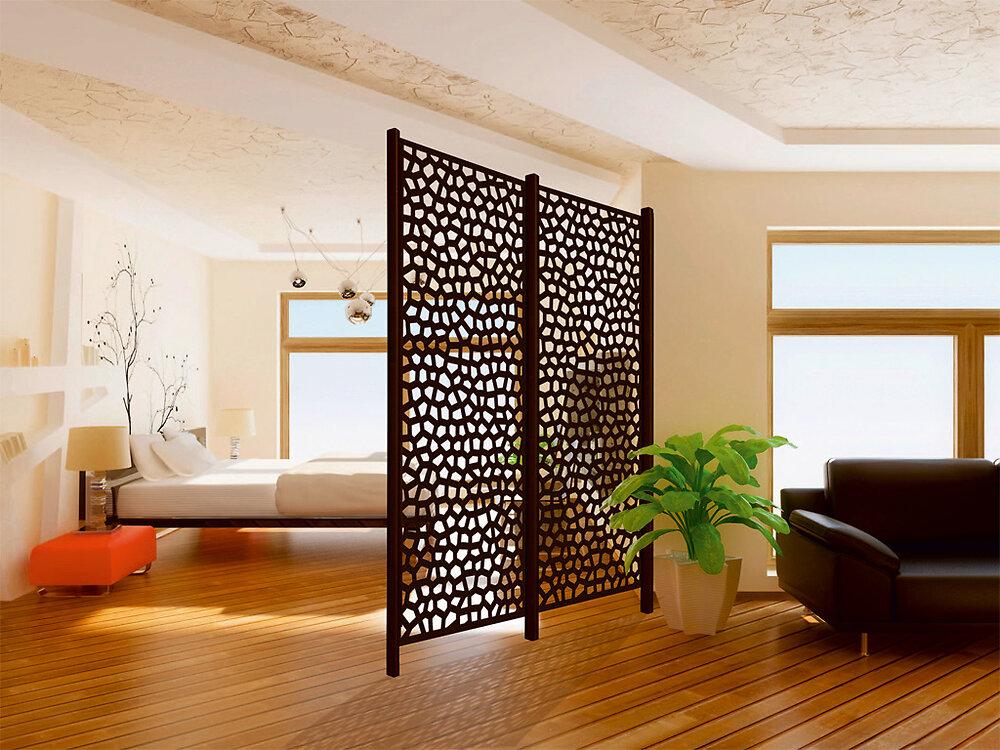 Panneaux décoratifs PP Rouille 1x2m