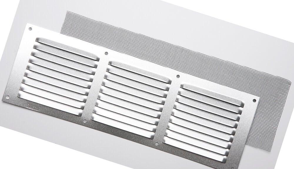 Grille d'aération aluminium mat à visser 10x30cm