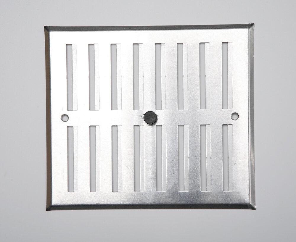 Grille d'aération aluminium mat à visser entrée d'air réglable 17x19cm