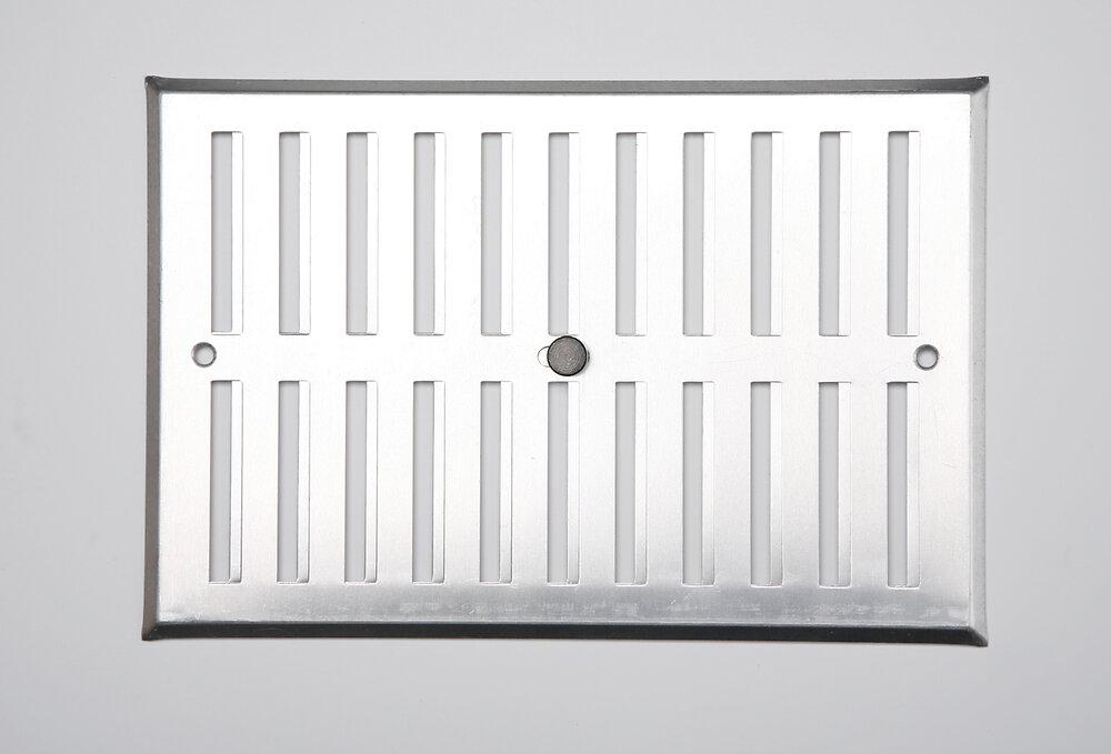 Grille d'aération aluminium mat à visser entrée d'air réglable 17x25cm