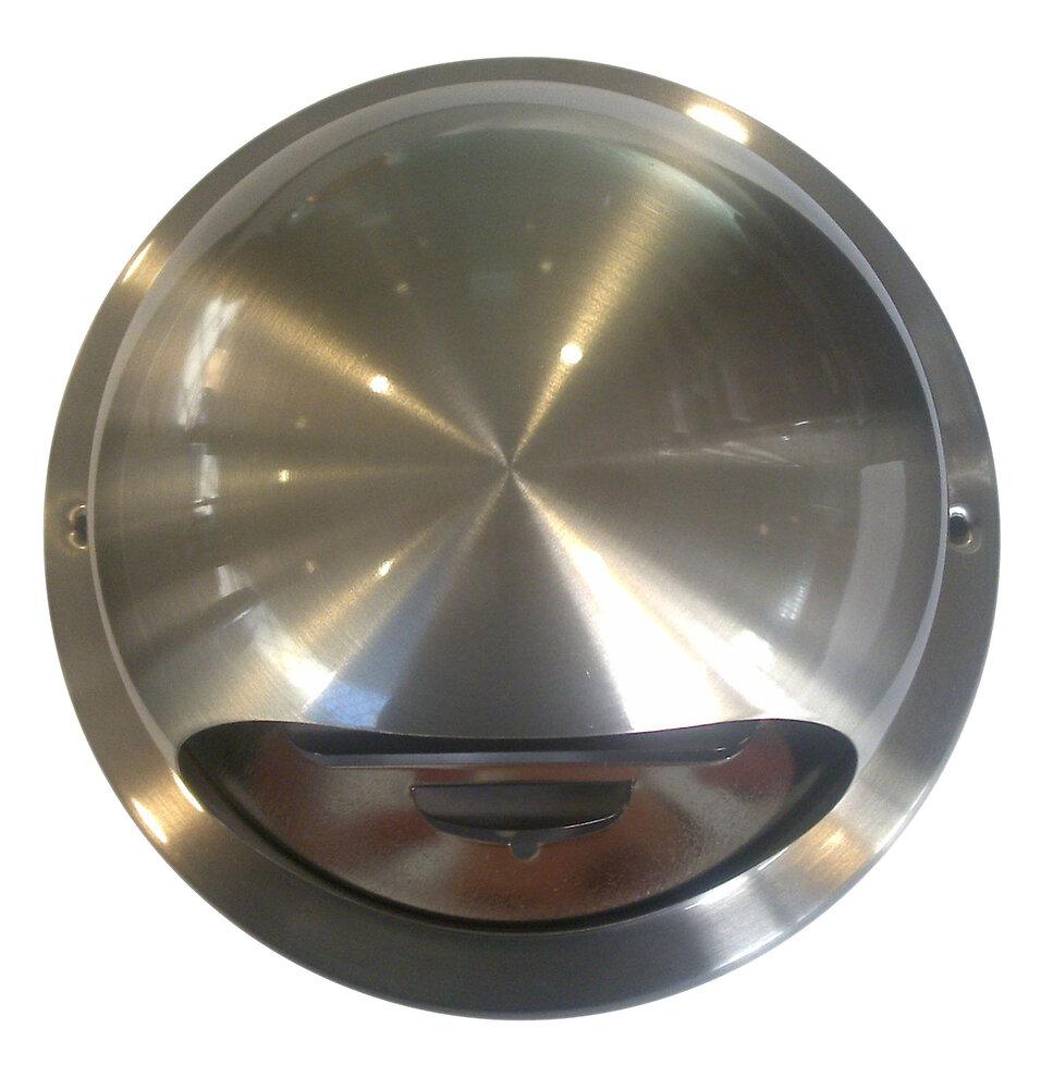 Bouche inox tube avec moustiquaire diamètre 11 à 13cm