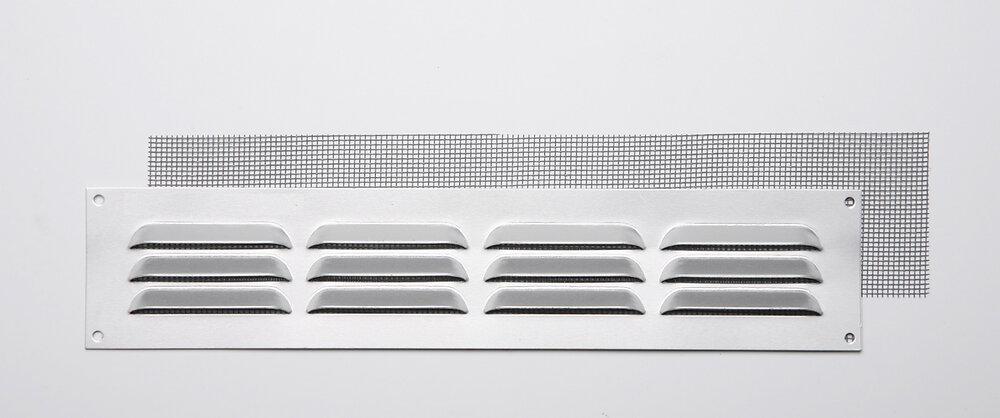 Grille d'aération aluminium mat à visser 5x24cm