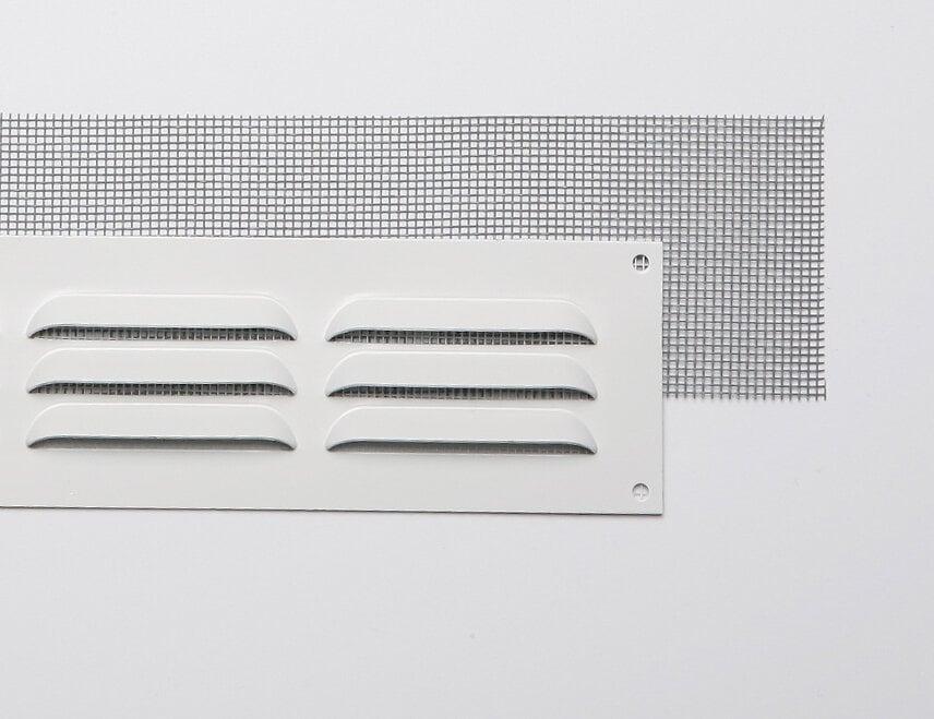 Grille d'aération aluminium blanc à visser 5x15cm