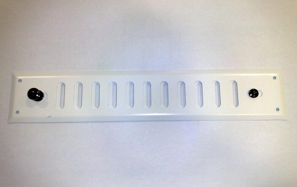 Grille d'aération  alu blanc à visser entrée d'air réglable 4,5x24