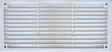 Grille d'aération ABS blanc à visser 8,6cm x16,5