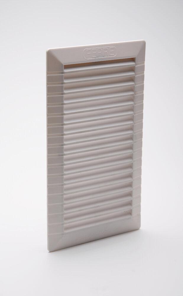Grille d'aération ABS blanc à encastrer avec moustiquaire 20,7 x11 cm