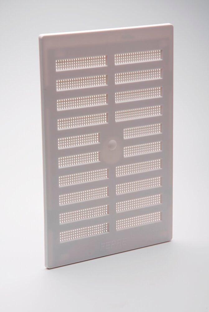 Grille d'aération ABS à visser entrée d'air réglable 28,9 x 19,3 cm
