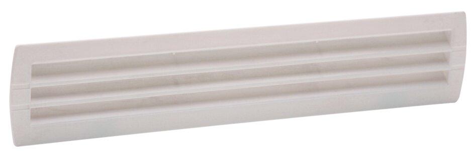 Grille d'aération ABS blanc à encastrer 4 x 28,3 cm