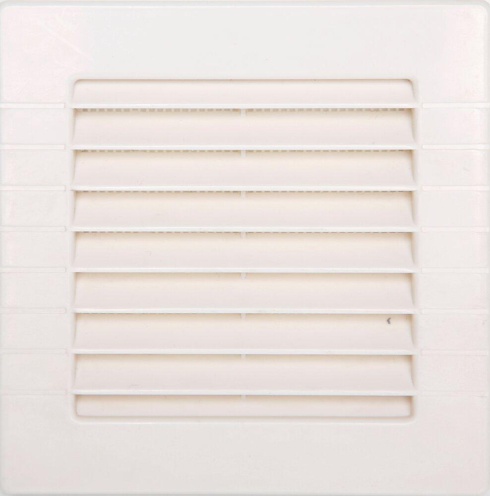 Grille d'aération ABS blanc à encastrer avec moustiquaire 10 x10 cm