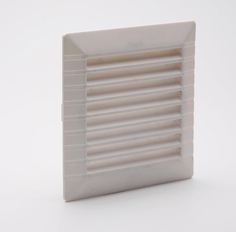 Grille d'aération ABS blanc à clipser avec moustiquaire 11cm x11