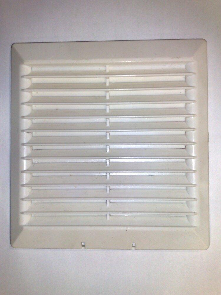 Grille d'aération ABS blanc à visser entrée d'air réglable 17cm x16