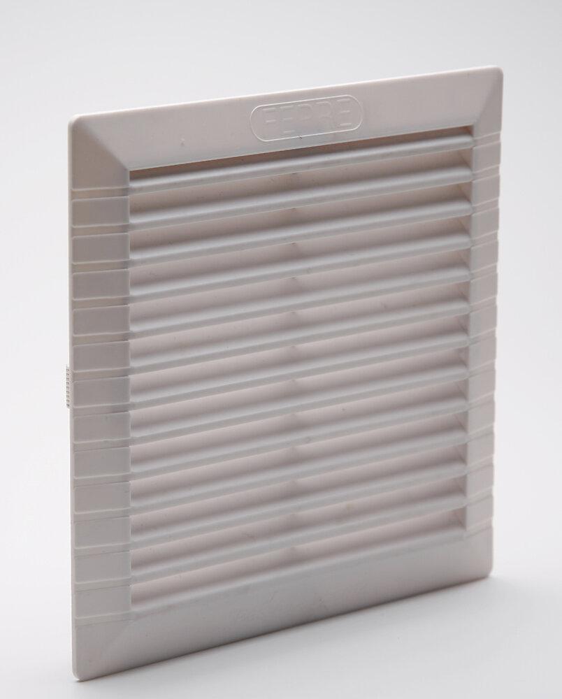 Grille d'aération ABS blanc à clipser avec moustiquaire 20,6 x 20,6 cm