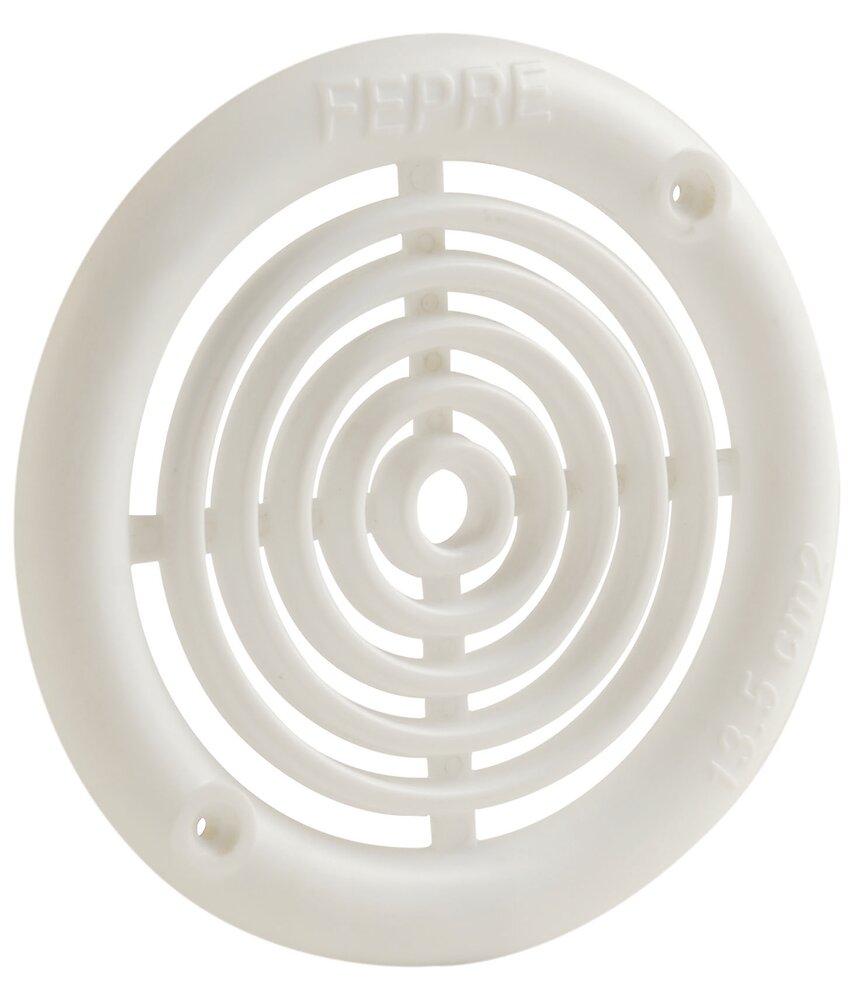 Lot 4 grilles ABS blanc à visser diamètre 6,4 cm