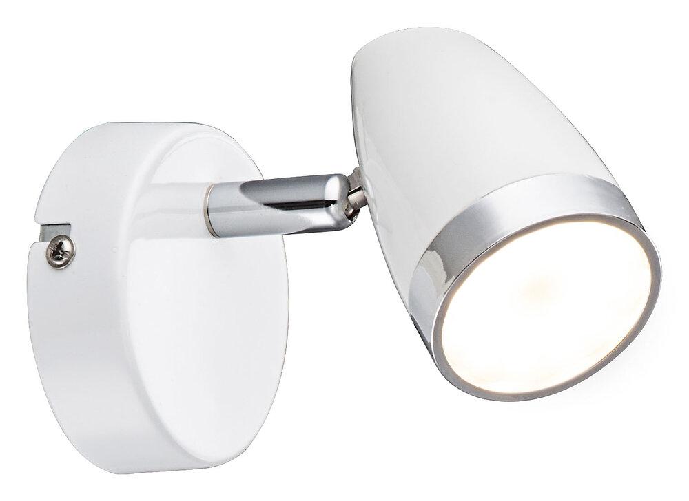 Spot Minou en plastique blanc l.8xh.9cm