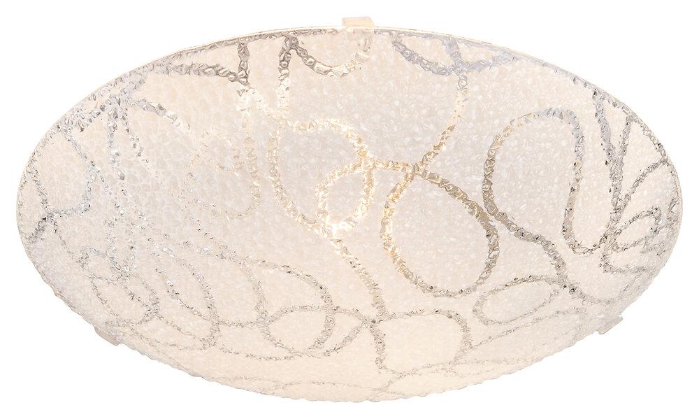 Plafonnier Calimero en verre opale blanc d.25xh.8cm
