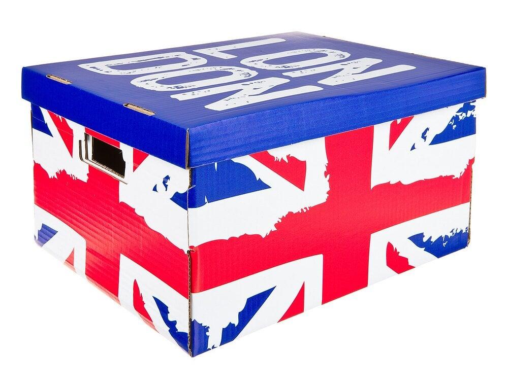 Lot de 2 boites en carton p40xl31xh21cm décor Union Jack