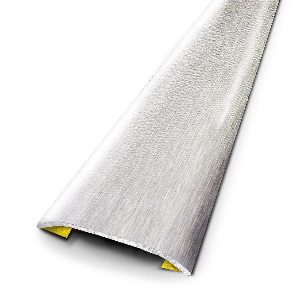 Barre de seuil adhésivée inox brossé 37/166