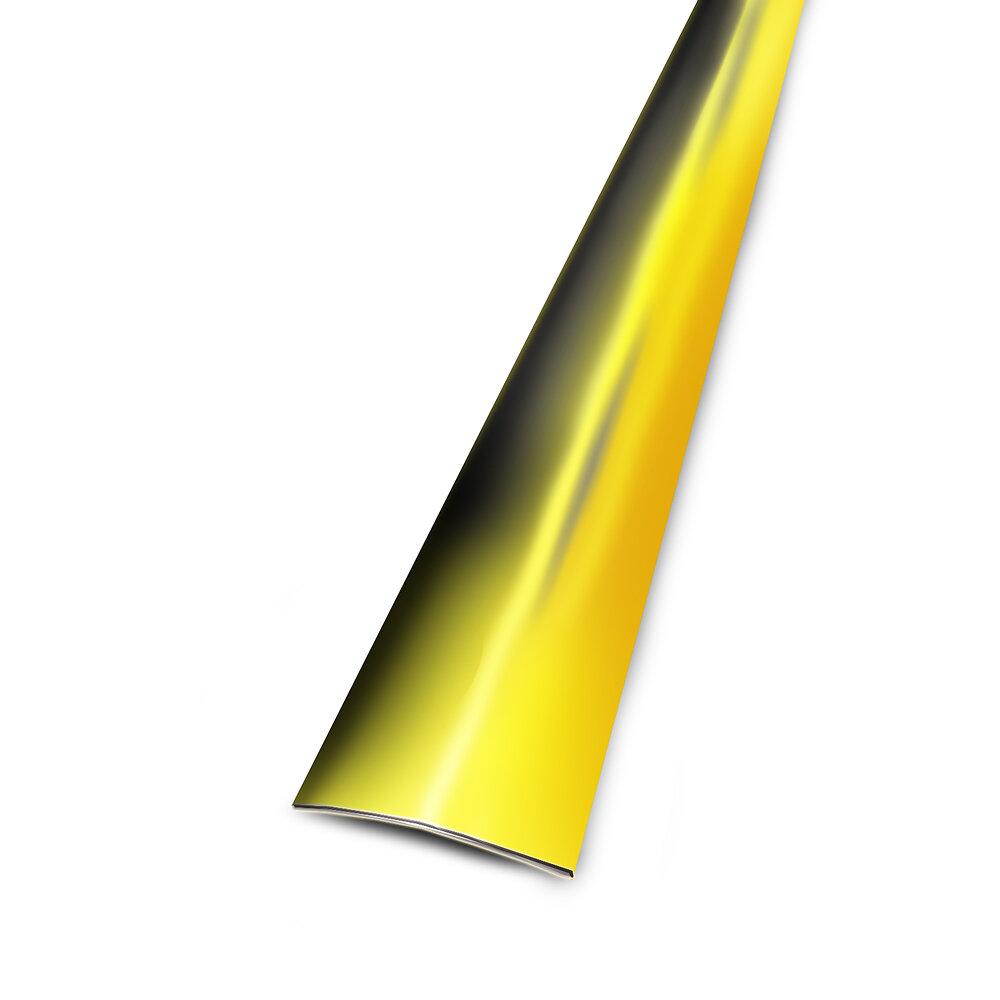 Seuil plat adhésif aspect laiton 30mm/83cm