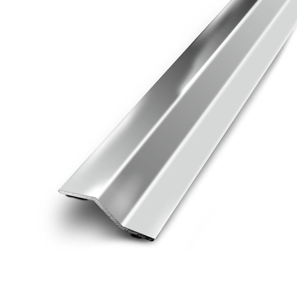 Barre de seuil multi niveaux adhésif inox 50/83