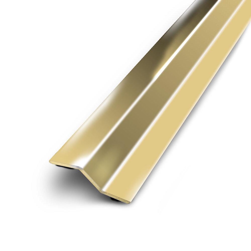 Barre de seuil multi niveaux adhésif acier laiton doré 30/83