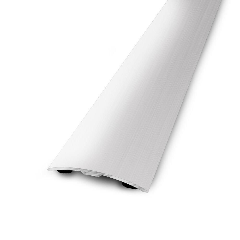 Barre de seuil plate adhésive alu naturel 93x4cm