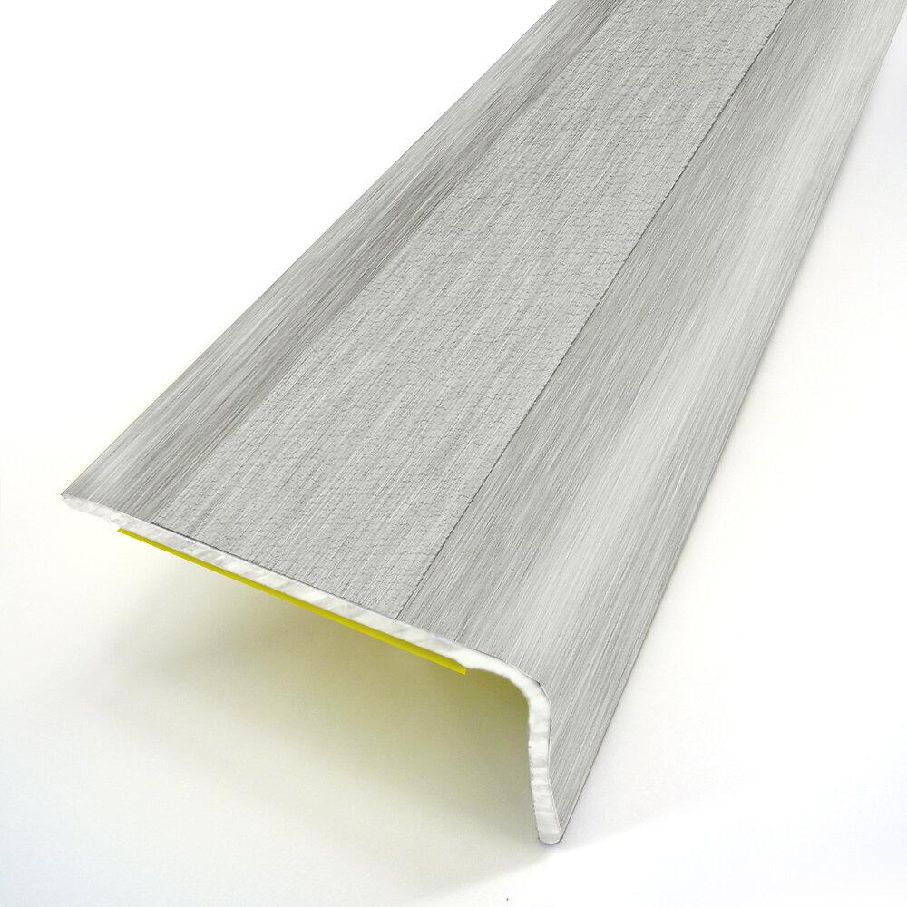 Nez de marche adhésif déco métal argent 36X24/95