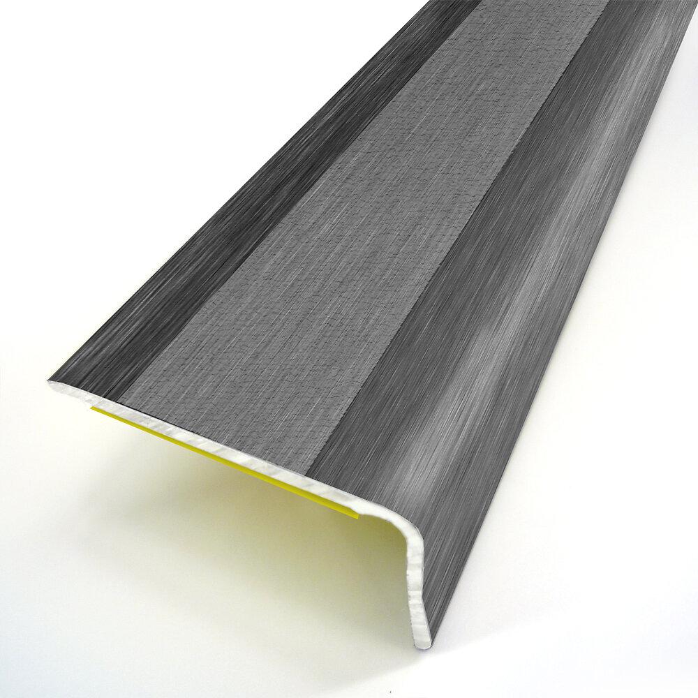 Nez de marche adhésif déco métal oxydé 36X24/95