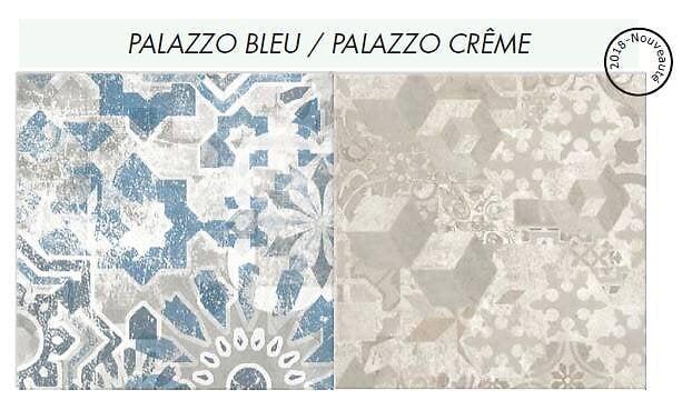 Crédence réversible Palazzo bleu/Crème 3000x600x9mm