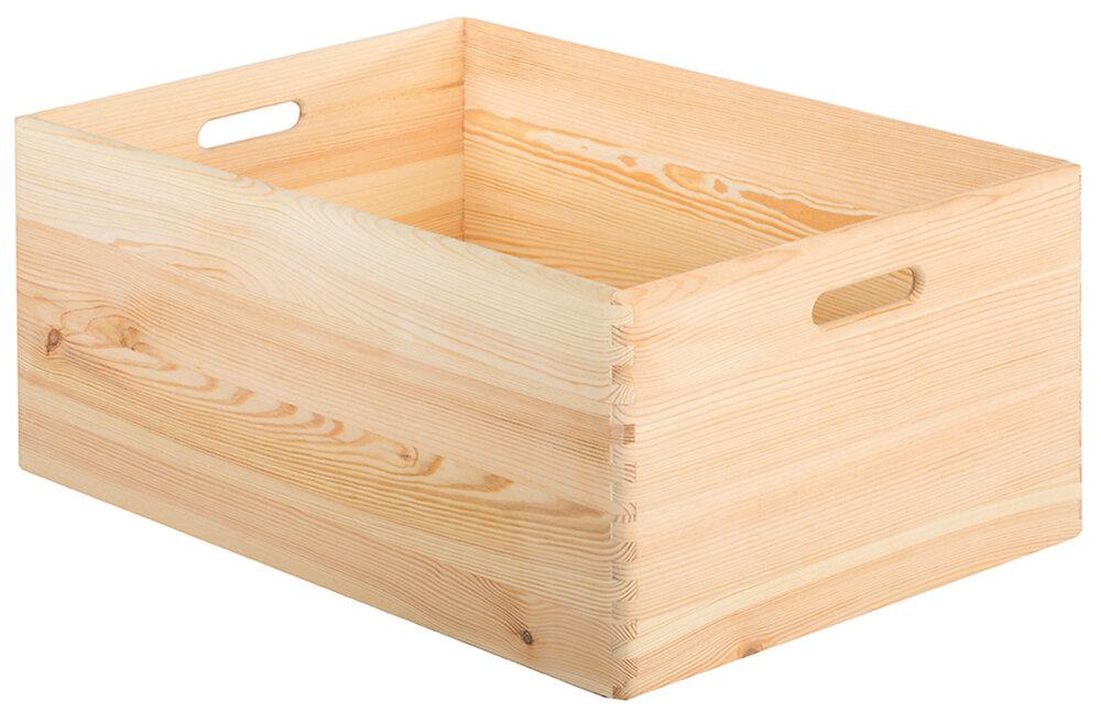 Caisse en pin brut 60x40x23