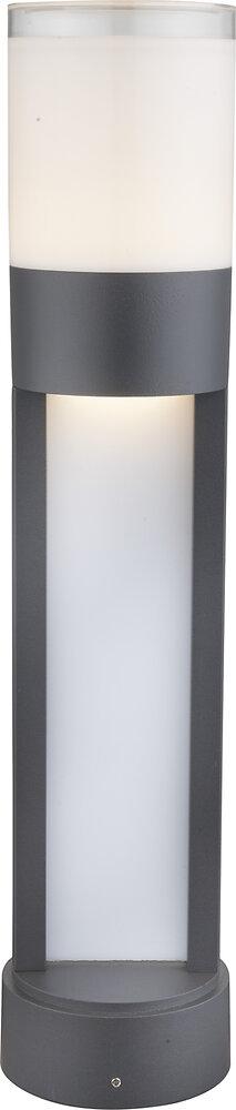 Luminaire extérieur Nexa aluminium gris PVC opal IP44 d.11xh.50cm
