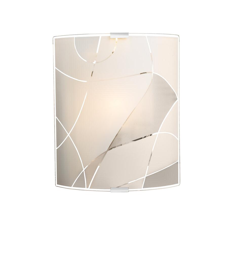 Applique GLOBO Paranja chromé verre satiné blanc 22 cm x 22,5 cm